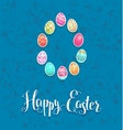 Easter festive card vector image vector image