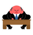 fat boss and table thick director office leader vector image vector image