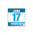 fathers day wall calendar 2018 vector image