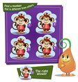 find a monkey vector image vector image