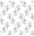 floral seamless pattern with foliage vector image vector image