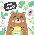 for mommy print with super cute babear vector image vector image