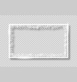 frame with white snowflakes banner vector image vector image