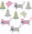 funny colorful cats seamless pattern it is vector image