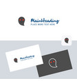 ghost logotype with business card template vector image vector image