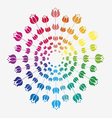 great color tulip mandala vector image vector image