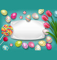 greeting card easter composition vector image vector image