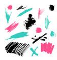 grunge brush stroke set vector image vector image