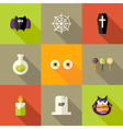 Halloween Squared Flat Icons Set 1 vector image vector image