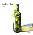 hand painting watercolor of vector image vector image