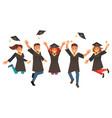 happy graduates vector image vector image