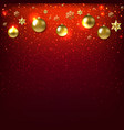 happy new year card with golden balls vector image vector image