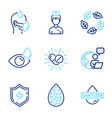 healthcare icons set included icon as sick man vector image vector image