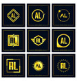 initial letter al logo set design vector image