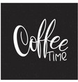 lettering coffee time vector image