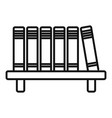library book shelf icon outline style vector image vector image