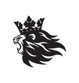lion king with crown logo mascot vector image vector image