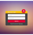 Login user interface Sign in web element template vector image vector image