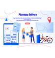 medicines fast delivery service webpage vector image vector image