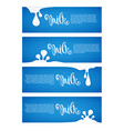 milk and dairy product labels flyers banners vector image vector image