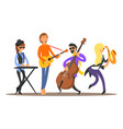 musicians on the stage vector image vector image