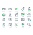 news line icons included icon vector image vector image