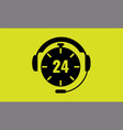 open around the clock 24 hours a day icon vector image