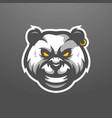 panda mascot logo design with modern