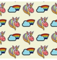 patch unicorns and rainbows seamless vector image vector image