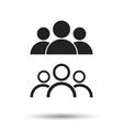 people icon flat people sign symbol with shadow vector image vector image