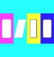 realistic smartphone template smartphones empty vector image