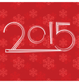 red new year background vector image