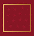 red stars frame template background vector image