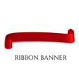 red web ribbon banner for vector image