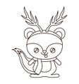 Reindeer cartoon of Merry Christmas design vector image vector image