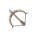 sagittarius sign rgb color icon