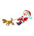 santa with dog vector image