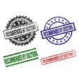 scratched textured recommended by doctors stamp vector image