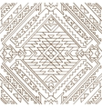 Seamless aztec pattern Line vector image vector image