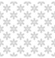 seamless pattern with snowflakes on white vector image