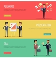 Set of Business Concept Web Banners vector image vector image
