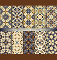 set of ten seamless abstract patterns in ethnic vector image vector image