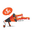 Sign Best Sellers megaphone vector image