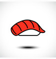 sushi icon vector image