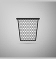 trash can icon isolated on grey background vector image
