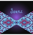 Tribal flyer design with two triangles vector image