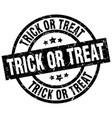 trick or treat round grunge black stamp vector image vector image