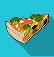 vegetarian vegetable piepie of vegetables without vector image vector image