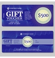 Vintage gift certificate voucher coupon vector image vector image