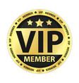 VIP Member Golden Label vector image vector image